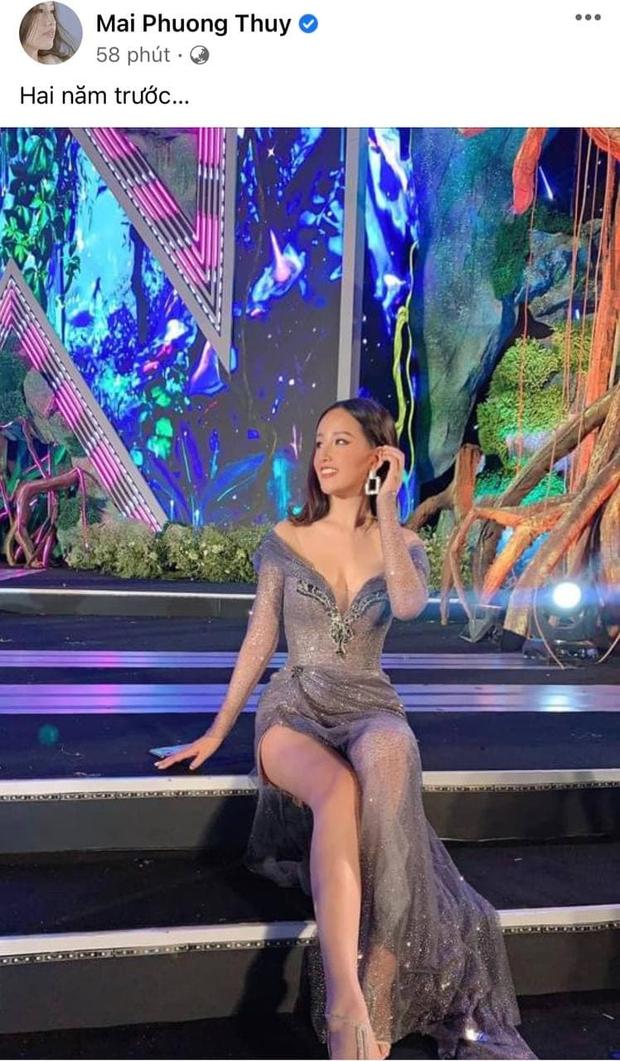 """Phản ứng của Mai Phương Thuý sau 2 năm bị chiếc váy """"hại"""" suýt lộ vòng 1 khủng trên sóng trực tiếp Miss World Việt Nam - Ảnh 3."""