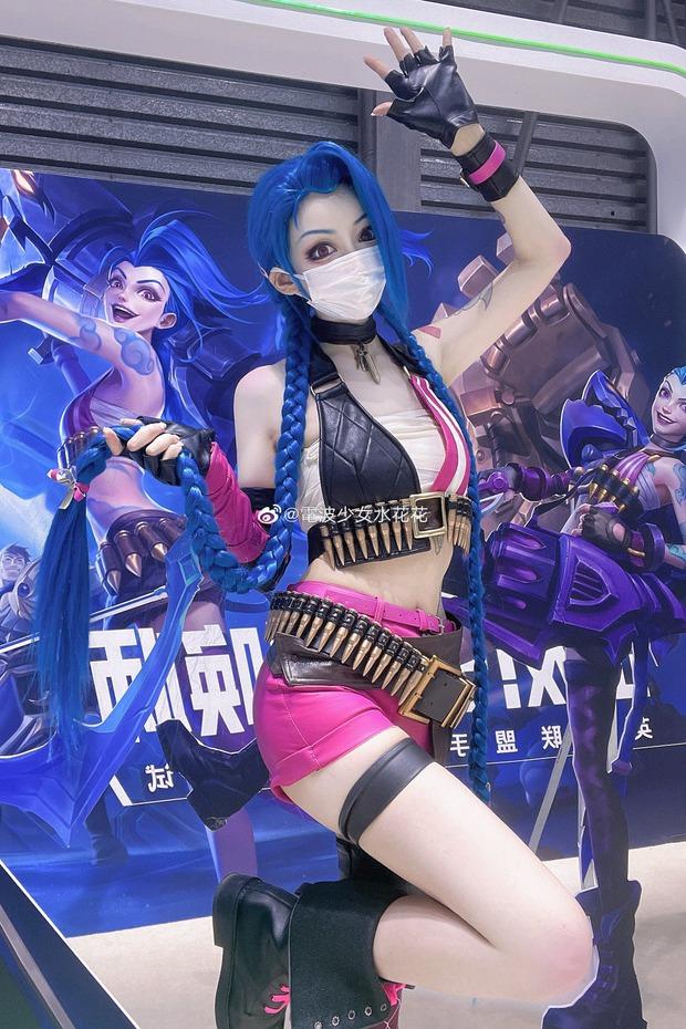 Jinx phiên bản mlem chiếm trọn spotlight hội chợ giải trí điện tử hàng đầu Trung Quốc - Ảnh 1.