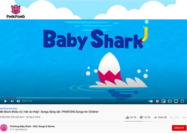 Baby Shark vượt mốc 9 tỷ view, thu về thành tích siêu khủng mà chỉ BTS và BLACKPINK đạt được - Ảnh 1.