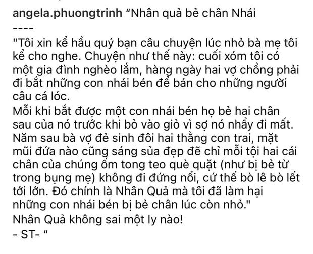 Angela Phương Trinh gây phẫn nộ vì chia sẻ chuyện phản khoa học về nguyên nhân trẻ bị khuyết tật kèm ảnh bé gái và cóc nhái - Ảnh 2.