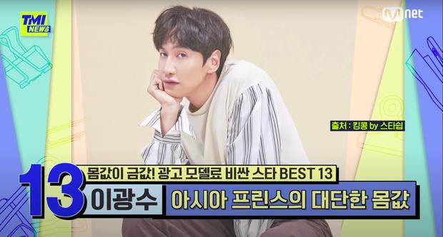 Lee Kwang Soo lọt top nghệ sĩ có giá cát xê khủng, tăng đến 200 lần so với thời điểm ra mắt! - Ảnh 1.