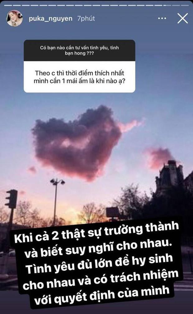 Giữa tin đồn hẹn hò Gin Tuấn Kiệt, Puka có chia sẻ gây chú ý về việc công khai tình yêu, thậm chí có cả chuyện kết hôn - Ảnh 3.