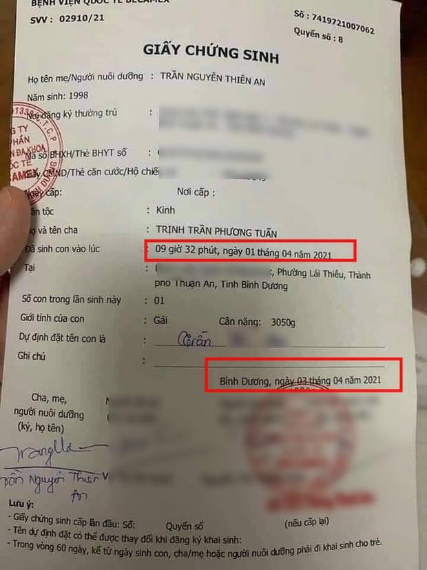 Nghi vấn Jack đích thân báo tin có con đầu lòng trên MXH, bằng chứng là chi tiết trùng khớp ở status và giấy chứng sinh? - Ảnh 2.