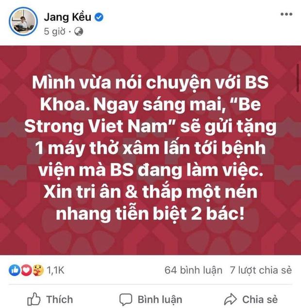 Chủ tịch Quỹ Sống Jang Kều tung đoạn chat trong đêm với bác sĩ Khoa nhường máy thở: Sự vội vàng nhận chỉ trích gay gắt - Ảnh 1.