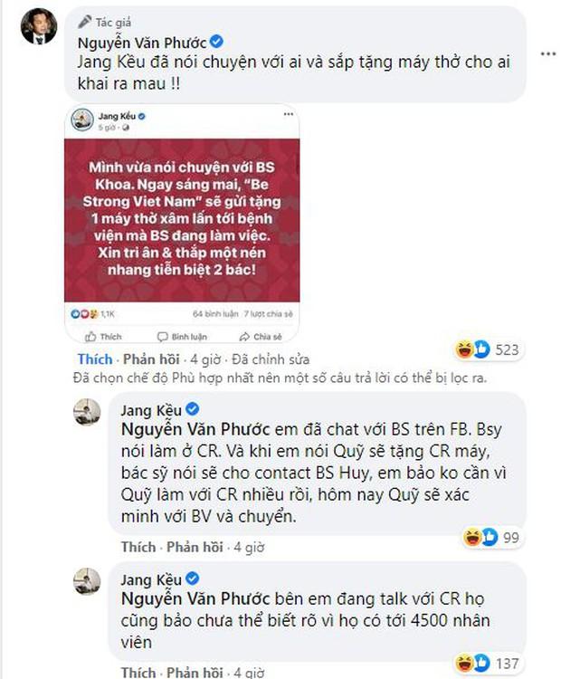 Chủ tịch Quỹ Sống Jang Kều tung đoạn chat trong đêm với bác sĩ Khoa nhường máy thở: Sự vội vàng nhận chỉ trích gay gắt - Ảnh 2.
