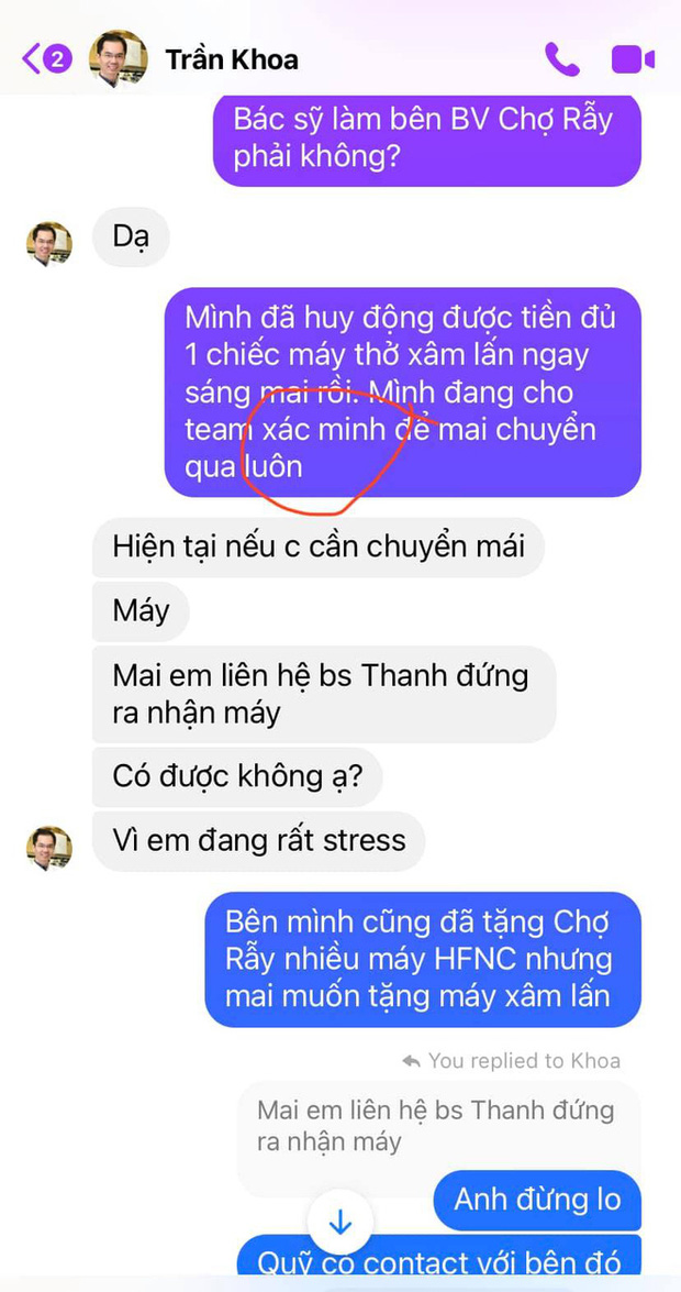 Chủ tịch Quỹ Sống Jang Kều tung đoạn chat trong đêm với bác sĩ Khoa nhường máy thở: Sự vội vàng nhận chỉ trích gay gắt - Ảnh 3.