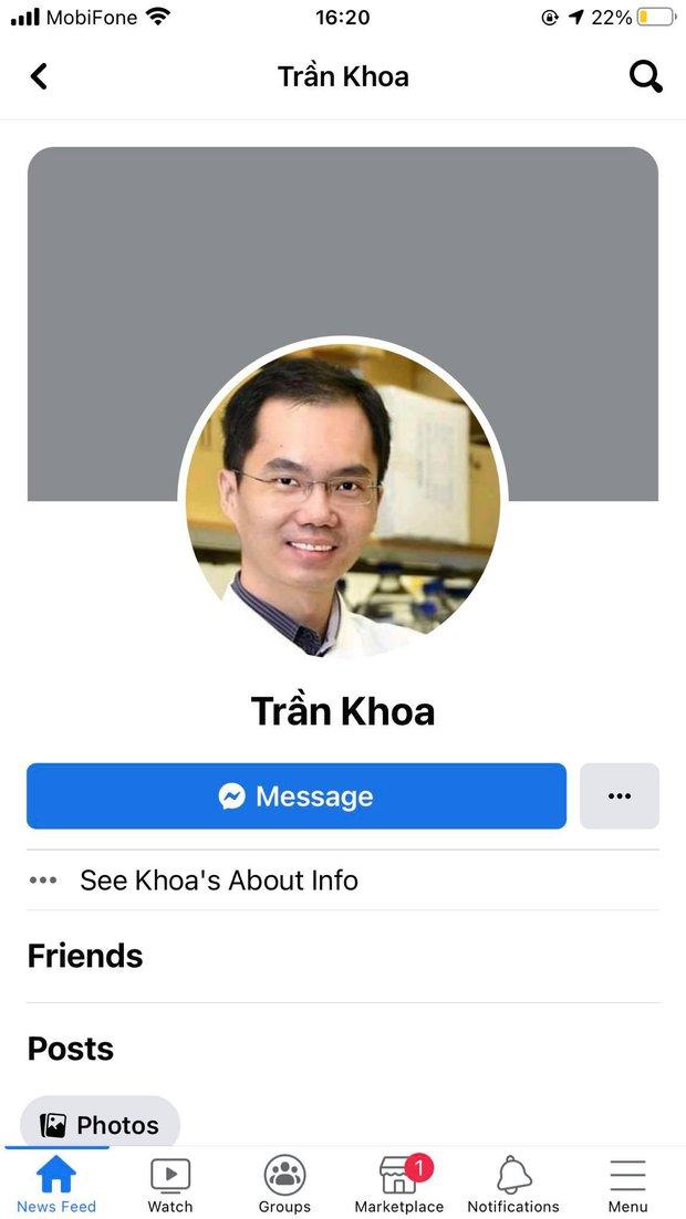 """Nóng: Phát hiện avatar FB của """"bác sĩ Khoa nhường máy thở"""" và FB bạn bè là Giáo sư nước ngoài, diễn viên trong phim - Ảnh 1."""