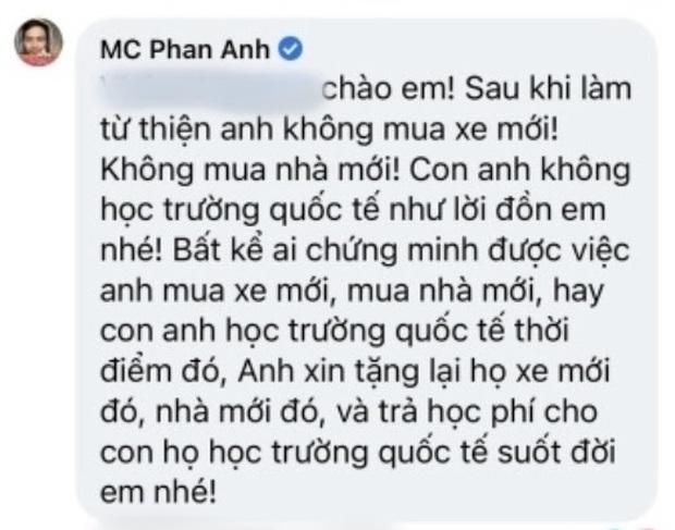 MC Phan Anh lên tiếng trước loạt tin đồn bị cấm sóng, tậu nhà đẹp, xe sang, con học trường quốc tế sau khi kêu gọi từ thiện - Ảnh 3.