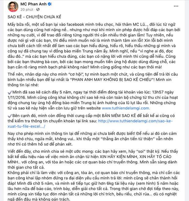 MC Phan Anh lên tiếng trước loạt tin đồn bị cấm sóng, tậu nhà đẹp, xe sang, con học trường quốc tế sau khi kêu gọi từ thiện - Ảnh 5.