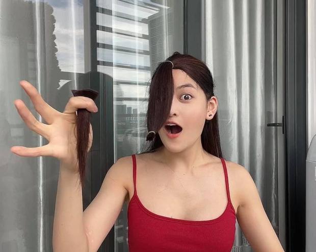 Thùy Anh đu trend tự cắt tóc layer trên TikTok, ai dè nhận kết quả méo mặt - Ảnh 3.