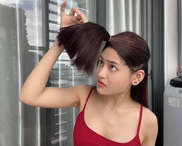 Thùy Anh đu trend tự cắt tóc layer trên TikTok, ai dè nhận kết quả méo mặt - Ảnh 5.