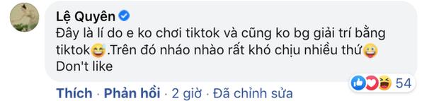 Lệ Quyên đính chính về tài khoản TikTok pha ke, nói rõ lý do không sử dụng liên quan đến loạt drama Vbiz? - Ảnh 4.