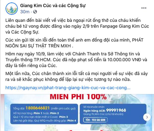 Vừa đăng bài xin lỗi vì đưa tin sai sự thật vụ bà ngoại rút ống thở của cháu, Giang Kim Cúc liền quay xe, bỏ luôn phần xin lỗi CĐM và gia đình nạn nhân - Ảnh 2.
