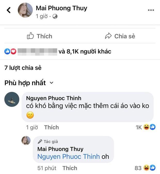 Noo Phước Thịnh khoe ảnh diện quần bó sát, còn dùng chữ ngon che chỗ nhạy cảm, Mai Phương Thuý liền có phản ứng chú ý - Ảnh 3.