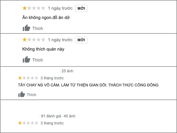 Nhà hàng của gia đình Trấn Thành tiếp bước Fanpage Vietcomback, bị netizen tấn công, rate 1 sao dù đã đóng cửa 4 tháng - Ảnh 4.