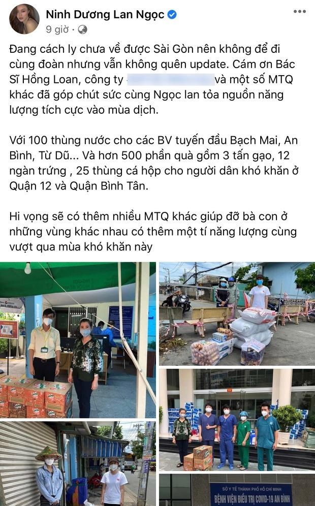 Giữa bão sao kê của loạt sao Việt đình đám, Lan Ngọc phản ứng cực khéo khi bị hỏi số tài khoản để quyên góp! - Ảnh 2.