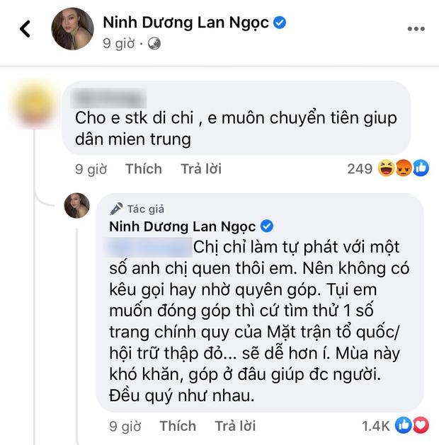 Giữa bão sao kê của loạt sao Việt đình đám, Lan Ngọc phản ứng cực khéo khi bị hỏi số tài khoản để quyên góp! - Ảnh 3.
