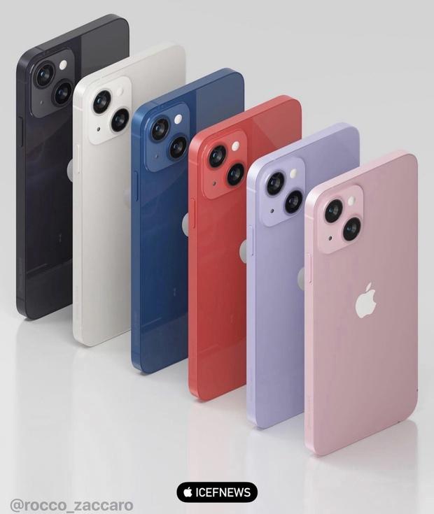 iPhone 13 rò rỉ concept toàn bộ 6 màu sắc: màu hồng bánh bèo siêu xinh, riêng màu cam chỉ xuất hiện trên bản Pro/Pro Max? - Ảnh 2.