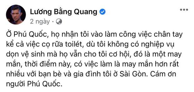 Lương Bằng Quang lên tiếng trước thông tin phải cọ toilet để mưu sinh, 4 tháng kẹt ở Phú Quốc sống thế nào? - Ảnh 4.