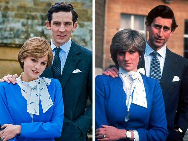 12 lần The Crown tái hiện lịch sử, tạo hình Hoàng gia Anh sao y bản gốc: Xuất sắc đến mức khó phân biệt! - Ảnh 2.