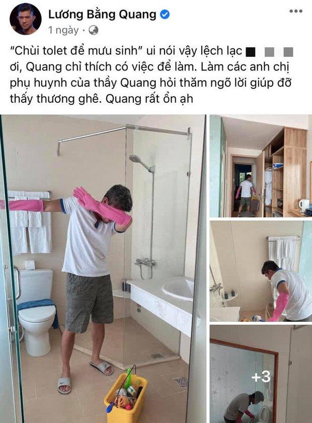 Lương Bằng Quang lên tiếng trước thông tin phải cọ toilet để mưu sinh, 4 tháng kẹt ở Phú Quốc sống thế nào? - Ảnh 2.