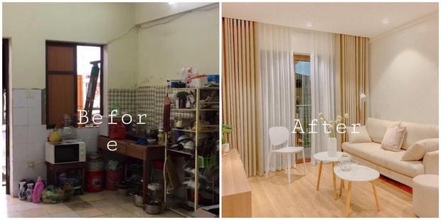 Căn hộ chung cư cũ lột xác một trời một vực sau màn cải tạo 350 triệu, nhìn ảnh before - after không nghĩ là một - Ảnh 1.