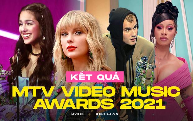 Kết quả MTV VMAs 2021: Justin Bieber chiến thắng tranh cãi, Cardi B có siêu hit WAP mà trắng tay, Olivia Rodrigo và BTS bội thu - Ảnh 2.