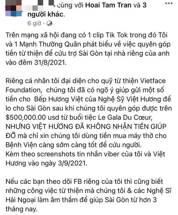Xuất hiện lời đồn tiêu cực về chuyện Việt Hương làm từ thiện, liên quan đến khoản tiền 11,3 tỷ: Người trong cuộc nói gì? - Ảnh 3.