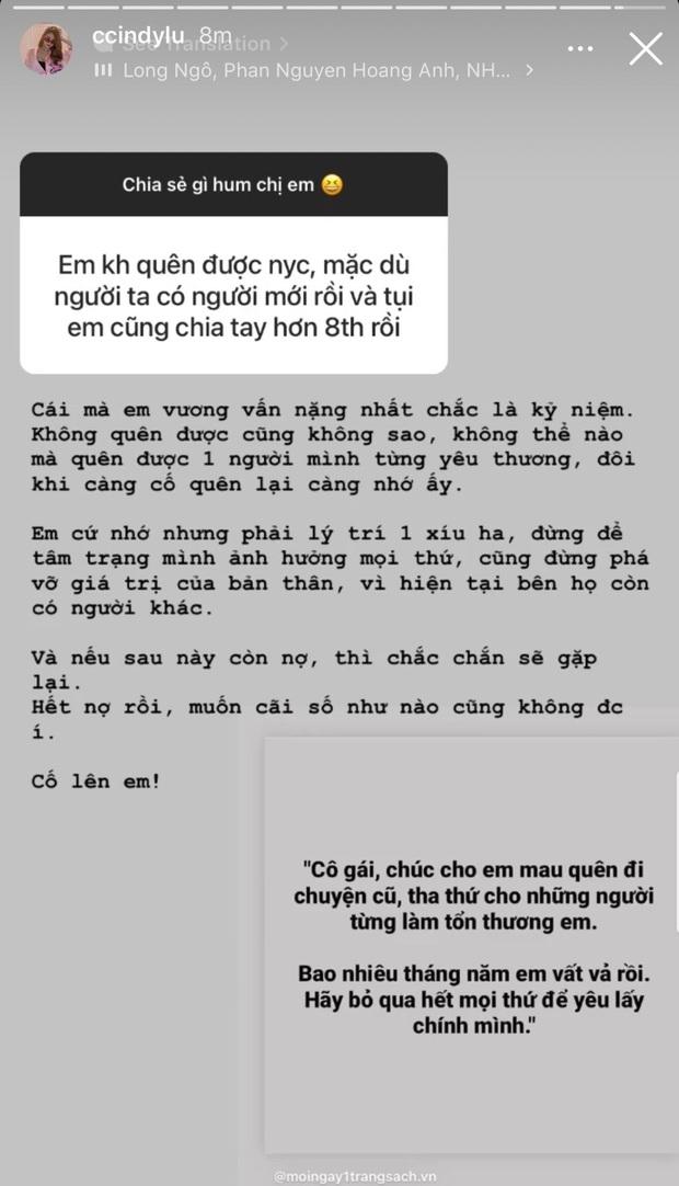 Cindy Lư bỗng nói về người yêu cũ, đang nhắc đến Hoài Lâm hay Đạt G? - Ảnh 2.