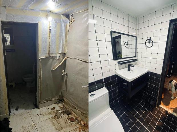 8 màn cải tạo chứng minh tân trang phòng tắm không cần đập đi xây lại, tối tăm cỡ nào cũng đẹp long lanh  - Ảnh 7.