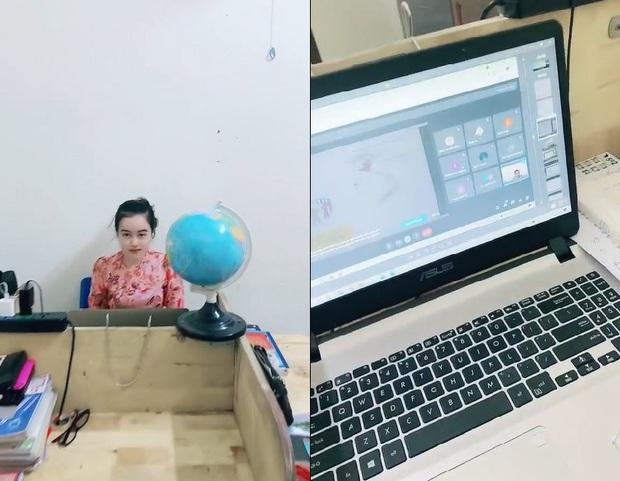 Cô giáo đang chăm chú giảng bài online, nhưng ai nấy đều sững sờ khi nhìn chiếc quần cô đang mặc - Ảnh 1.