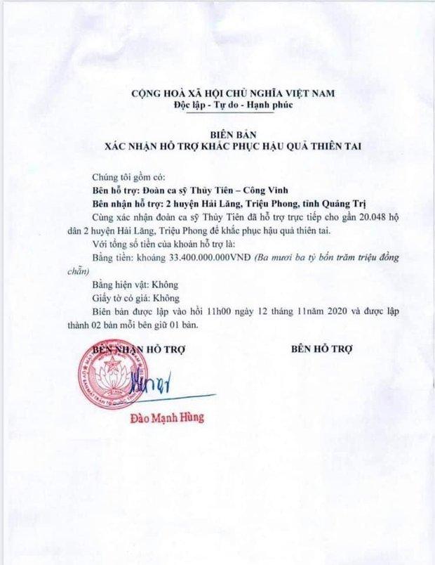 Netizen tranh cãi hình ảnh Thuỷ Tiên tặng thuyền máy cứu trợ miền Trung nhưng chỉ ghi tên 2 vợ chồng, phía chính chủ nói gì? - Ảnh 6.