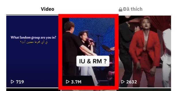 Xôn xao clip RM (BTS) sướng rơn, tay chân rụng rời khi được IU ôm trên sân khấu? - Ảnh 4.