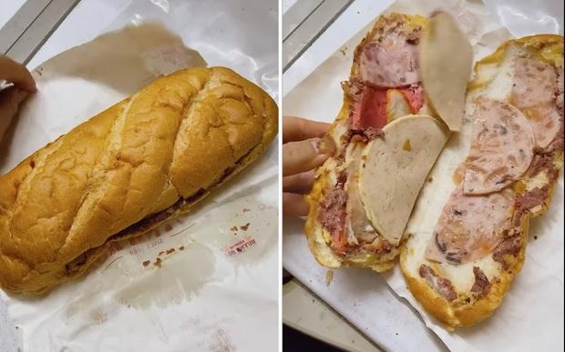 Review bánh mì xịn nhất Sài Gòn giá 110k/ổ của một vị khách: Mở ra hết hồn vì nhìn như đôi dép? - Ảnh 3.