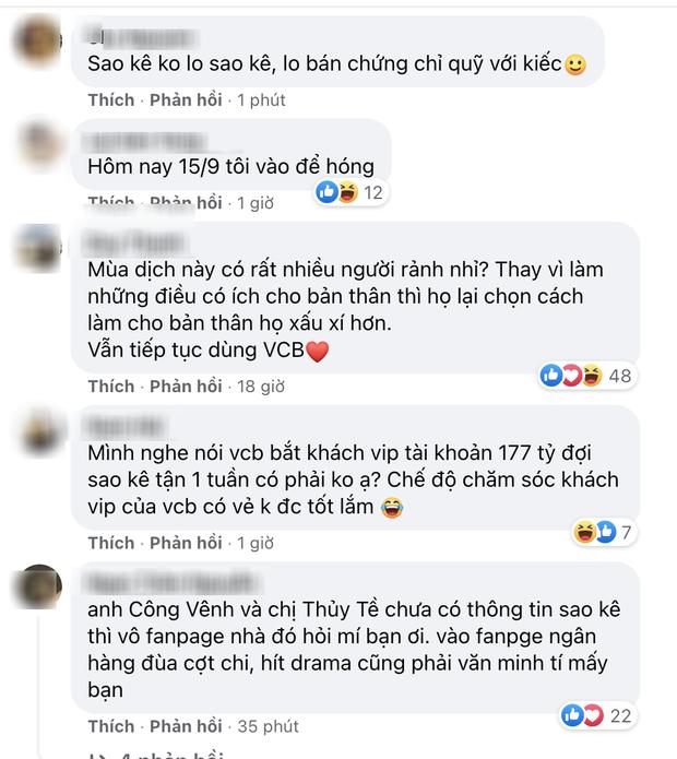 Đến hẹn sao kê 15/9, netizen tổng tấn công fanpage Thuỷ Tiên - Công Vinh, ngân hàng Vietcombank tiếp tục hứng bão phẫn nộ - Ảnh 3.