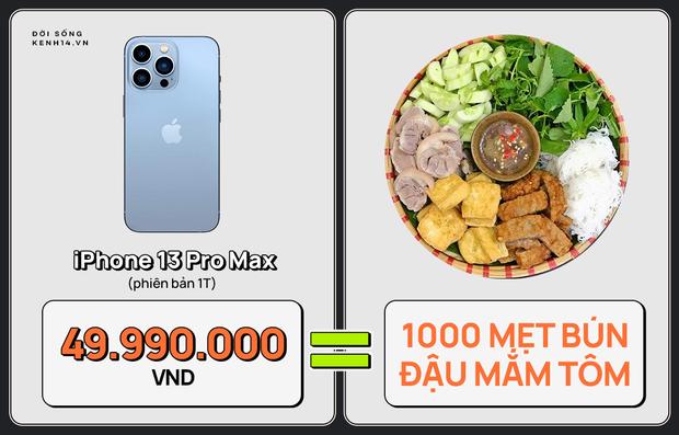 Một chiếc iPhone 13 có thể mua được: 5,5 tấn rau, 471 thùng mì hoặc tới 4 năm ăn phở!!! - Ảnh 17.