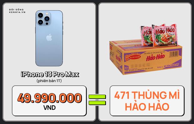 Một chiếc iPhone 13 có thể mua được: 5,5 tấn rau, 471 thùng mì hoặc tới 4 năm ăn phở!!! - Ảnh 3.