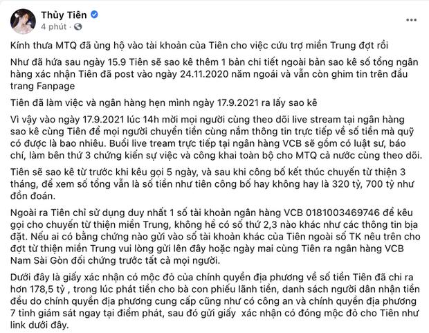 Công Vinh - Thuỷ Tiên đặt lịch sao kê 177 tỷ tiền từ thiện, netizen đồng loạt réo gọi thế lực này? - Ảnh 3.