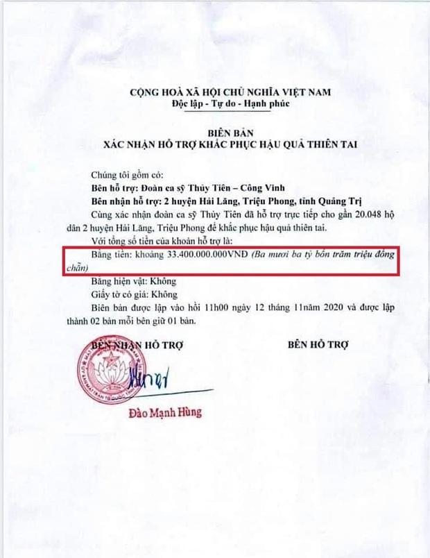 Netizen soi bằng được lỗi trong giấy tờ của Công Vinh và Thuỷ Tiên: Không rõ ngày tháng, số tiền bằng số và chữ khác nhau? - Ảnh 4.