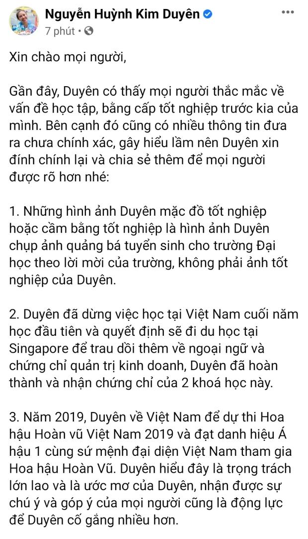 Kim Duyên đăng tâm thư dài, Miss Universe Việt Nam có động thái đặc biệt giữa tâm bão học vấn của gà cưng - Ảnh 2.