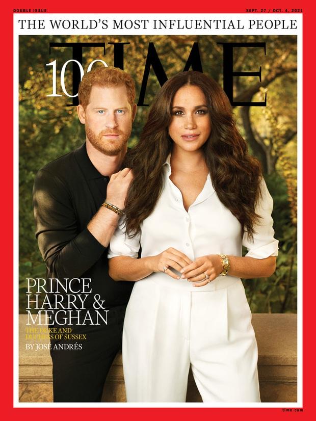 Vợ chồng Meghan vào top 100 người có sức ảnh hưởng nhất thế giới, tung bộ ảnh mới đầy quyền lực - Ảnh 1.