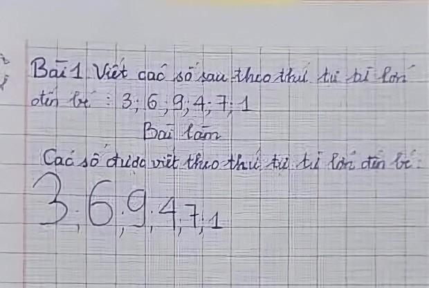 Cô giáo yêu cầu viết các số từ LỚN đến BÉ, đáp án cậu nhóc đưa ra khiến giáo viên cạn lời, khen ngợi thông minh quá - Ảnh 1.