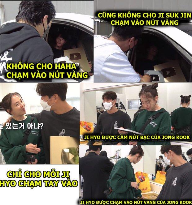 Jong Kook khoe nút Vàng, nút Bạc YouTube với hội Running Man nhưng chỉ Ji Hyo được hưởng đặc quyền - Ảnh 4.