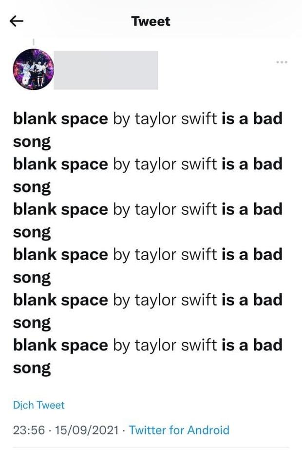 Bản hit 2,8 tỷ view của Taylor Swift bỗng nhận loạt đánh giá là bài hát tệ hại từ tài khoản fan BTS, drama gì đây? - Ảnh 5.