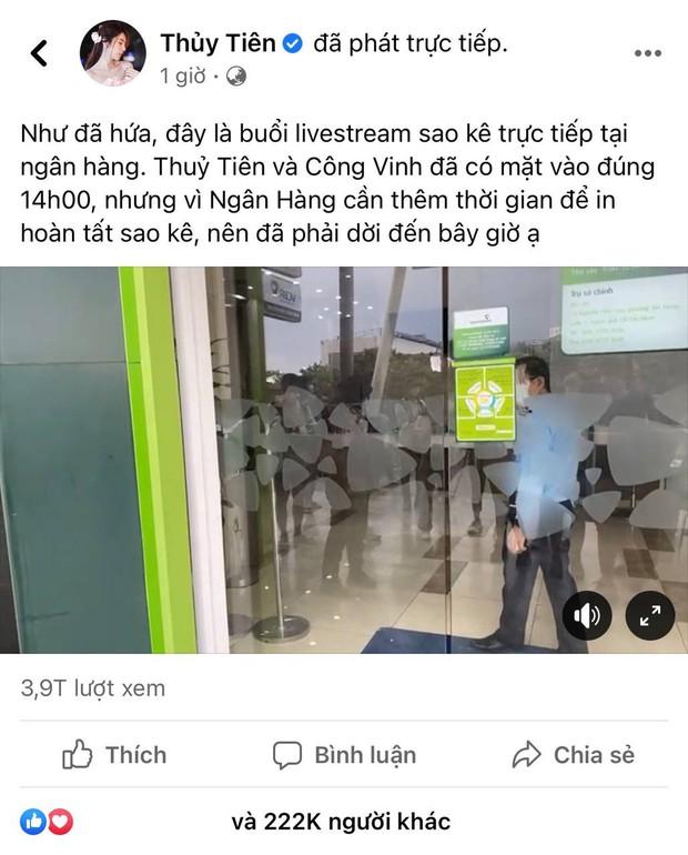 Buồn của ca sĩ Thuỷ Tiên: Ra MV hoành tráng nhưng view sau 9 tháng chẳng bằng 11 phút livestream sao kê - Ảnh 2.