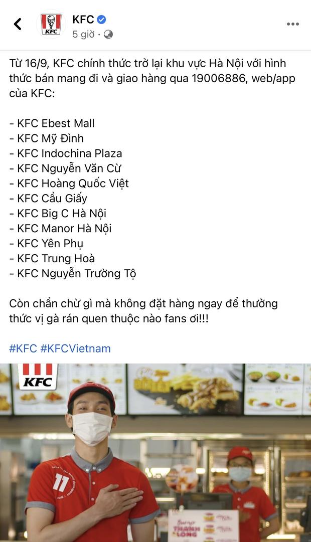 HOT: 10 hãng thức ăn nhanh đình đám nhất Việt Nam thông báo thời gian mở cửa trở lại, Sài Gòn có 2 nơi duy nhất comeback - Ảnh 4.