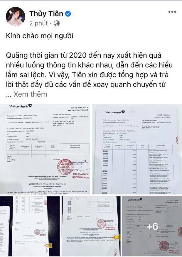 Thuỷ Tiên công bố 18.000 trang sao kê ngân hàng, làm rõ các khoản thu - chi và chốt 1 ý đặc biệt quan trọng - Ảnh 2.