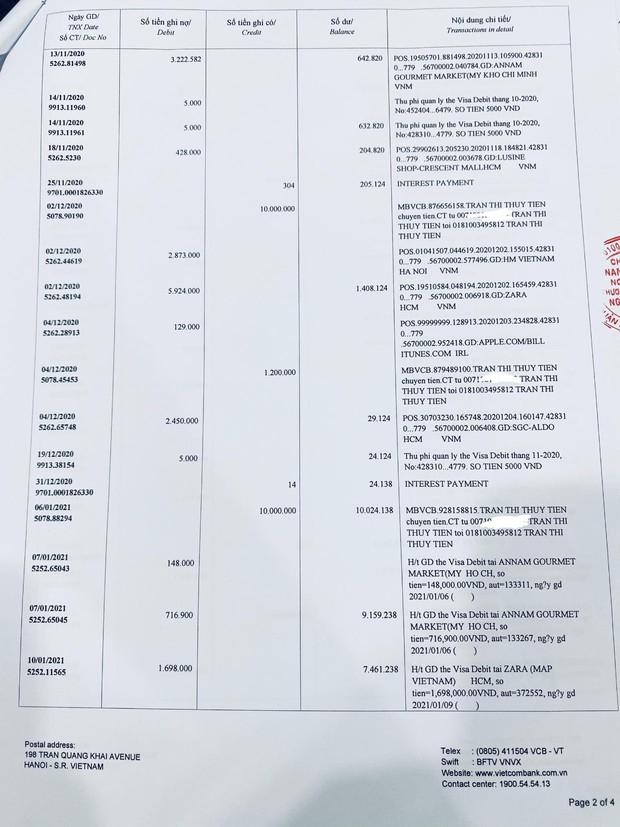 Thuỷ Tiên công bố 18.000 trang sao kê ngân hàng, làm rõ các khoản thu - chi và chốt 1 ý đặc biệt quan trọng - Ảnh 11.
