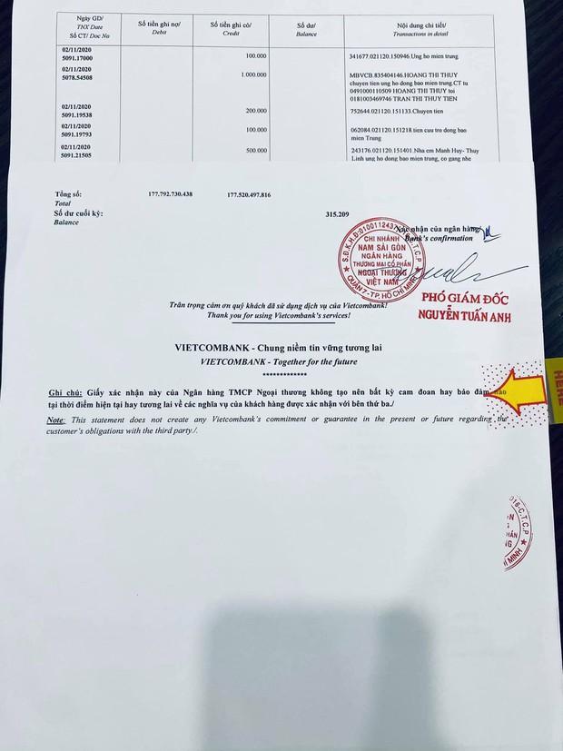 Thuỷ Tiên công bố 18.000 trang sao kê ngân hàng, làm rõ các khoản thu - chi và chốt 1 ý đặc biệt quan trọng - Ảnh 7.