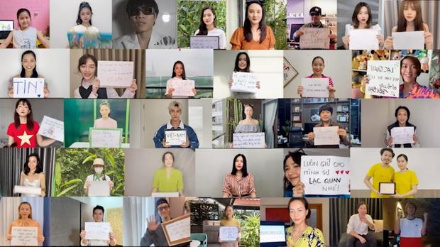 Hơn 30 sao Việt và 2 nghệ sĩ F0 xuất hiện trong MV của Châu Đăng Khoa và Sofia, cùng lan toả thông điệp tích cực giữa dịch bệnh - Ảnh 5.